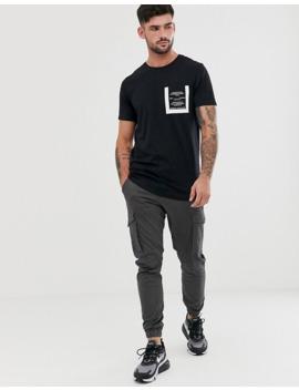 Jack & Jones Core Curved Hem Crew Neck One Pocket T Shirt In Black by Jack & Jones
