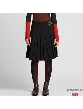 Women Jw Anderson Pleated Skirt by Uniqlo