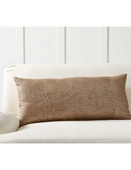 Gold Peace Filled Lumbar Pillow Cover by Pottery Barn
