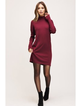 Erin Mock Neck Sweater Dress Erin Mock Neck Sweater Dress by Dynamite