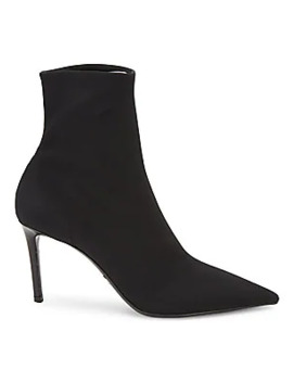 Technical Fabric Stiletto Booties by Prada