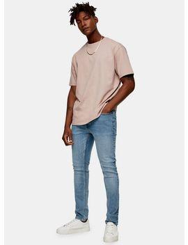 Vintage Mid Wash Stretch Skinny Jeans by Topman