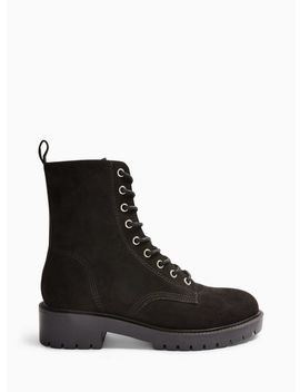Blossom Black Lace Up Hiker Boots by Miss Selfridge