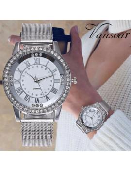 Livraison Directe Femmes Montre Strass Décontracté Femmes Argent Et Or Rose Montres Bracelet Cadeau Horloge Relogio Feminino Chaud by Ali Express.Com