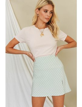 French Chic Bias Cut Mini Skirt // Sage by Vergegirl