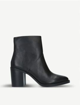Tenley Leather Ankle Boots by Steve Madden
