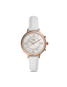 Hybrid Smartwatch   Jacqueline White Leather by Fossil
