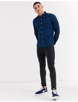 Tommy Hilfiger New England Oxford Shirt In Navy by Tommy Hilfiger