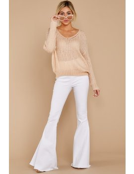 My Side Of Town Beige Sweater by Lumiere