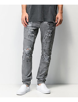 Crysp Denim Montana Grey Skinny Jeans by Crysp Denim