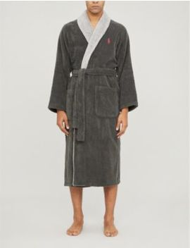 Logo Embroidered Cotton Towelling Dressing Gown by Polo Ralph Lauren