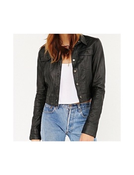 Vintage Leather Trucker Jacket 🖤 by Lord & Taylor