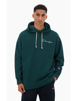 Archive Script Logo Cotton Jersey Hoodie by Champion