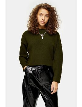 Petite Knitted Super Soft Crop Jumper by Topshop