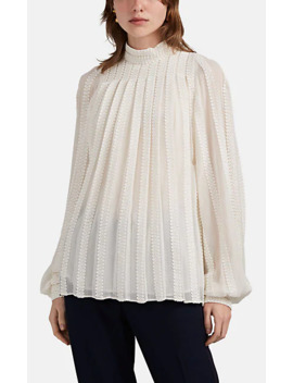 Embroidered Cotton Silk Gauze Blouse by Derek Lam
