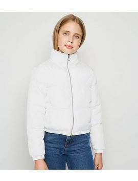Girls White Puffer Jacket by New Look