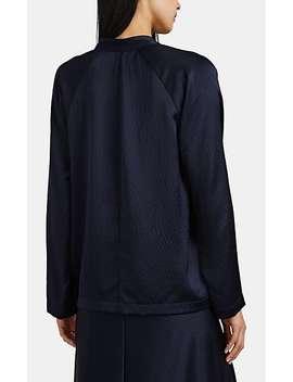 Evi Pebbled Silk Blouse by Zero + Maria Cornejo