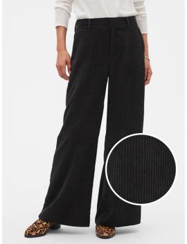 Drapey Wide Leg Wale Trouser by Banana Republic Factory