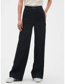 High Rise Wide Leg Denim Rinse Jean by Banana Republic Factory