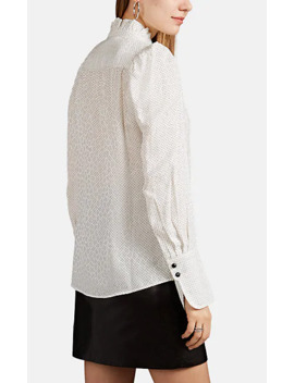 Lamia Dot Jacquard Silk Blend Blouse by Isabel Marant