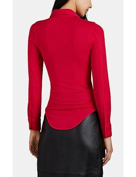 Crepe Button Front Shirt by Bottega Veneta