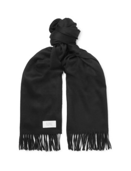 Fringed Wool And Cashmere Blend Scarf by Givenchy