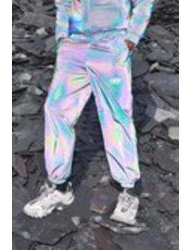 Man Rainbow Reflective Jogger by Boohoo Man