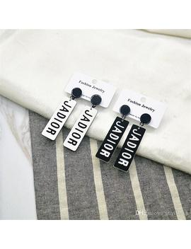 Ins Style Earrings With Logo Fashion Women's Earrings For Night Club Party Brand Earrings For Women by D Hgate.Com