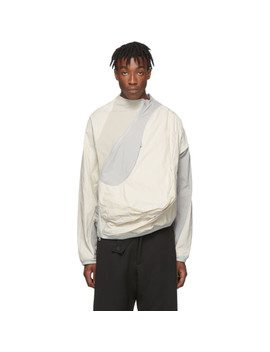 Off White & Grey 2.0 Center Jacket by Post Archive Faction (Paf)
