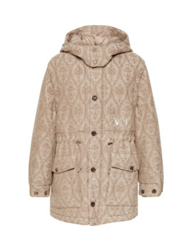 + Valentino Jacquard Hooded Parka by Undercover
