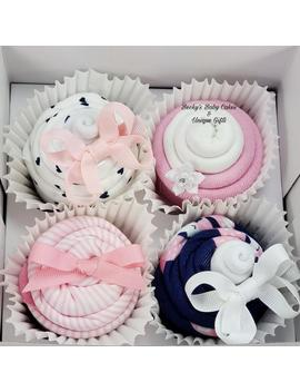 Unique Baby Gift, Baby Girl Gift Basket, Baby Shower Gift, Baby Cupcakes, Hair Bow, Pregnancy Gift Basket by Etsy