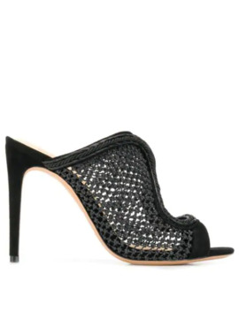 Fishnet Stiletto Sandals by Alexandre Birman