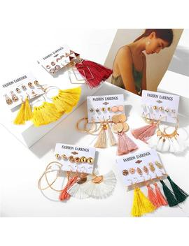 1 Set Bohemian Tassel Long Earrings Ladies Geometric Big Earrings Party 2019 Female Diy Fashion Jewelry by D Hgate.Com