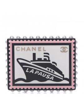 Chanel Resin Pearl Cc La Pausa Brooch Multicolor by Chanel