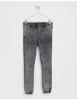 Asos Design Spray On Jeans In Power Stretch With Jogger Styling In Acid Gray by Asos Design