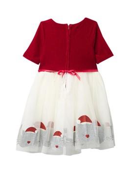 Glitter Santa Kitty Dress (Toddler & Little Girls) by Zunie