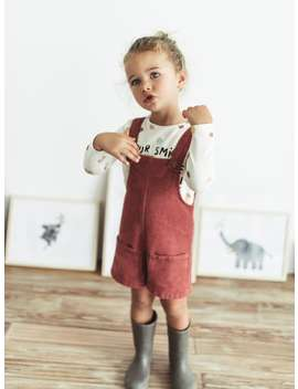 Short Basic Corduroy Overalls by Zara