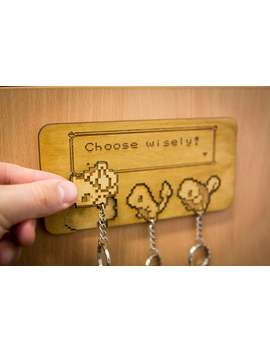 Choose Wisely! Inspired Lasercut & Engraved Keyring And Wall Mount   Kanto X3 by Etsy