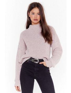 Ain't No Doubt About Knit High Neck Sweater by Nasty Gal