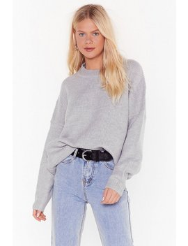 Seen Knit Coming Crew Neck Sweater by Nasty Gal