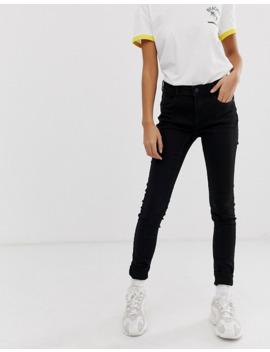 Noisy May High Waisted Body Shaping Jean In Black by Noisy May