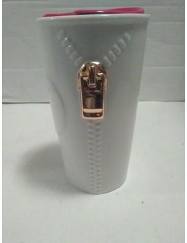 Starbucks Gold Zipper Travel Mug Pre Owned Double Wall 10oz by Starbucks