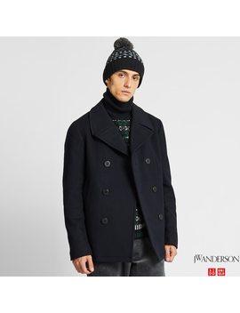 Men Wool Peacoat (Jw Anderson) by Uniqlo