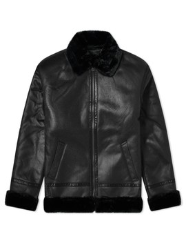 Alpha Industries B3 Faux Leather Flight Jacket by Alpha Industries'
