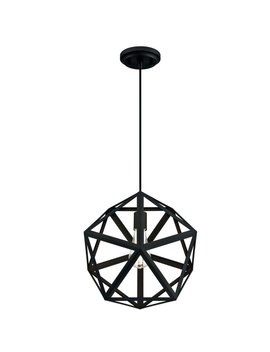 Exmore 1 Light Single Geometric Pendant by Wrought Studio