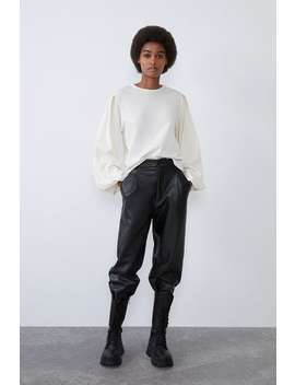 Sweatshirt Met Ballonmouwen by Zara