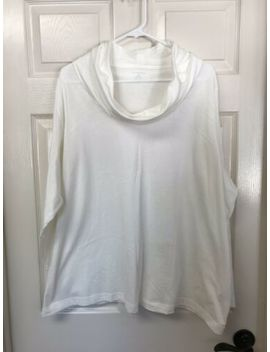 Lands End White Long Sleeved Oversized Cowl Turtle Neck. 3 X by Lands' End