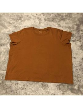 Madewell Vintage Northside Tee Womens Size 3 X Crew Neck Top In Golden Pecan by Madewell