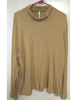 Leo Nicole Womens Mustard Knit Top Shirt Turtleneck Plus Sz 3 X by Leo Nicole