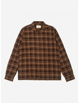 Patch Shirt   Brown Multi Check by Folk